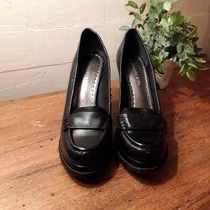 NWOB Black Gianni Bini Loafer Pumps, 8M